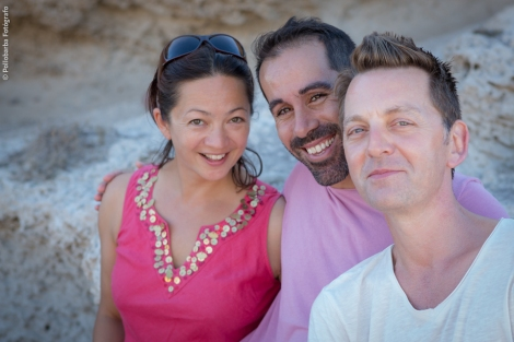 Michelle Man, Daniel Abreu y James Hewison, profesores de los talleres de danza contemporánea de Costa Contemporánea 2014