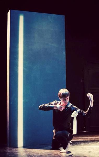 """Javier Martín en """"control"""", Teatro del Arte (Madrid, 17 nov 2014). © Catuxa Debén"""