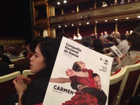 Representación de 'Carmen' en el Teatro de la Zarzuela